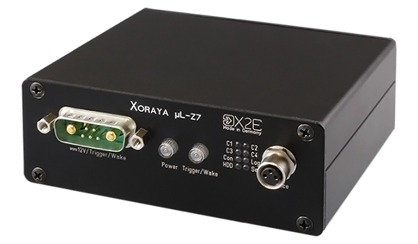 The XORAYA μL-Z7 is an ultra-compact automotive data logger that due to its small size can be placed very close to the data source.